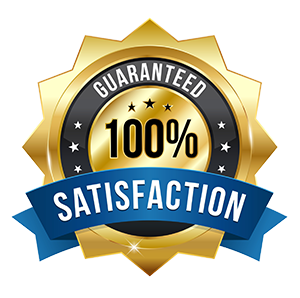 100% Customer Satisfaction Guaranteed! We Aim to Exceed Your Expectations!